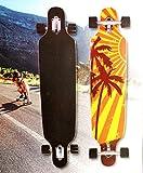 Topfit Longboard Palm Tree Skateboard ABEC 7 Kugellager Komplettboard Speedboard