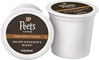 Peet's Coffee Major Dickason's Blend, Dark Roast, 75 Count Single Serve K-Cup Coffee Pods for Keurig Coffee Maker, Black
