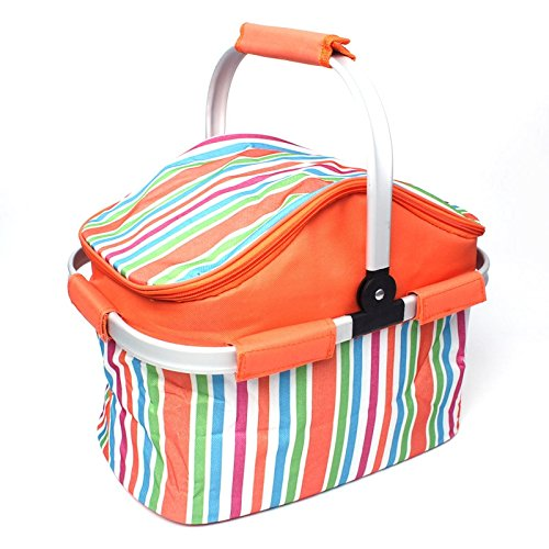 Household Articles LGMIN 20L Cloth Outdoor Beach Picnic Storage Basket, Insulated Basket Convenient and practical (Color : Color1)