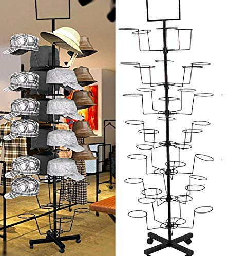 HAT Display - HAT Racks - Winter, Baseball, Cowboy, Womens, Mens, Baby - Hard Durable HAT Stand Rack - 7 Tier 35 Hats
