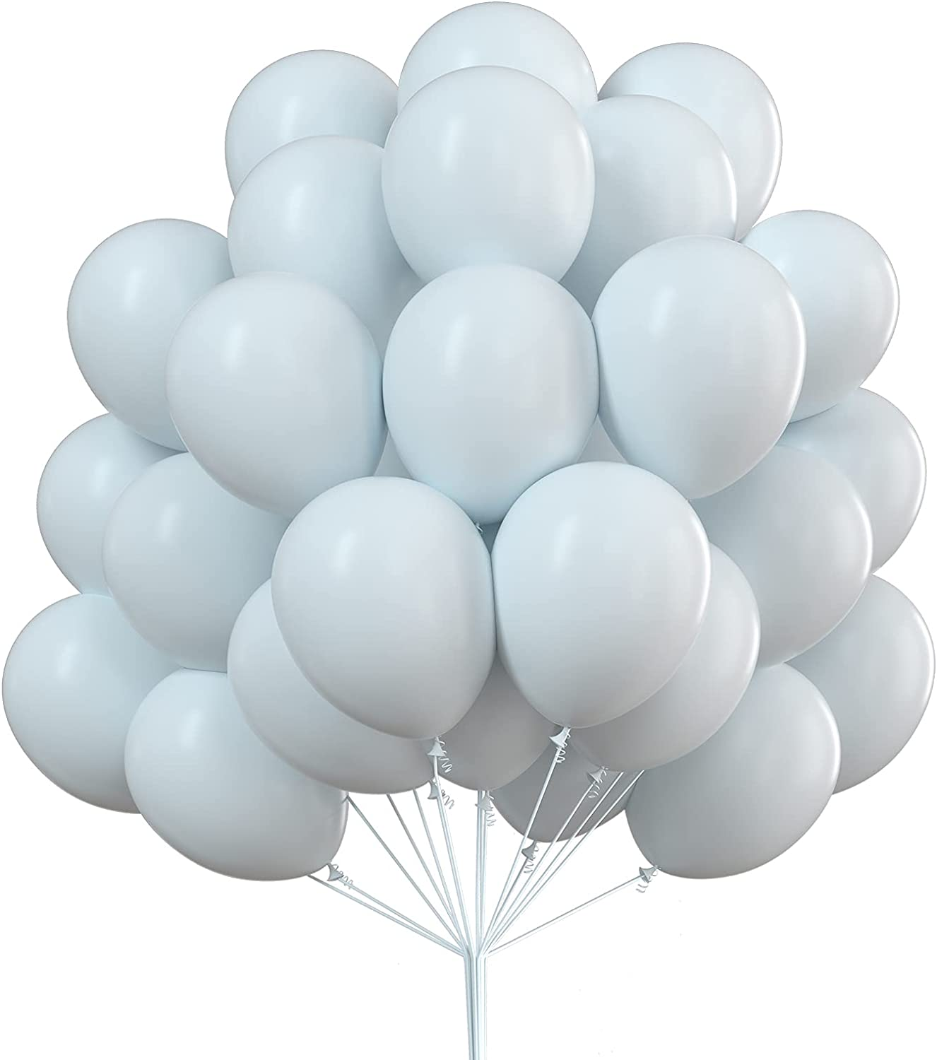 PartyWoo White Balloons 50 pcs Latex Party Kansas City Mall Discount is also underway Ba 12 inch