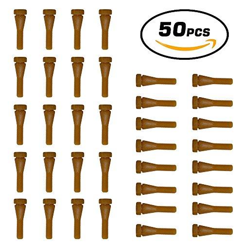 Huatuo® Lot de 50 doigts en caoutchouc pour plumeuse de caille