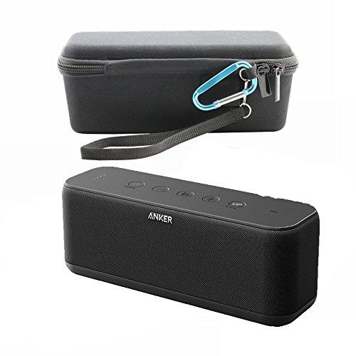 Anker SoundCore Boost Case EVA duro Llevar bolsa de almacenamiento de viaje para Anker SoundCore Boost 20W altavoz Bluetooth–Compatible con cable USB y cargador