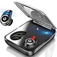 【進化版】Bluetooth イヤホン 高音質 ワイヤレスイヤホン IPX7完全防水 両耳 75時間連続駆動 充電ケース付 ハンズフリー通話 マイク内蔵 Siri対応 タッチ式 ブルートゥース イヤホン iPhone&Android 対応 (ブラック)