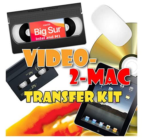 VHS and Camcorder Video Capture Kit for Mac. Compatible with Big Sur and...