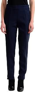 Wool Navy Women's Casual Pants