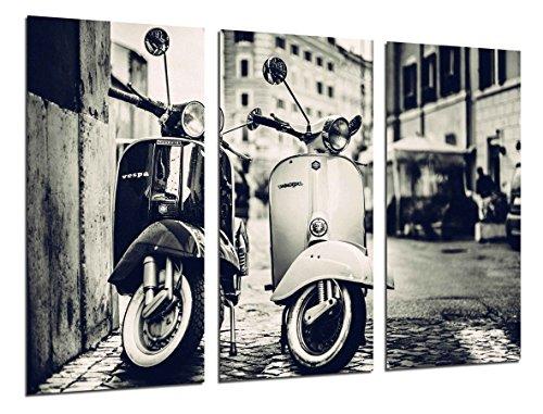 Cuadro Fotográfico Motos Vespa Vintage Tamaño total: 97 x