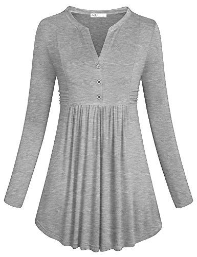 Anna Smith Elegante Jersey para Mujer, Blusa de Manga Larga