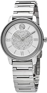 Movado Bold Luxe Silver Crystal Pave Dial Ladies Watch 3600658