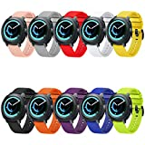 FunBand Compatible Gear Sport Strap Bands, 20mm Soft Silicone Replacement Wristbands Fit for 20mm Universal Strap/Samsung Gear Sport/Gear S2 Classic/Galaxy Watch 42mm/Galaxy Watch Active/Vivoactive 3