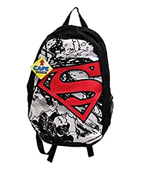 Superman Black and White Cape Backpack