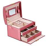 Caja organizadora de almacenamiento de joyas de 3 capas, recolección y almacenamiento de joyas, gabinete de oreja de PU