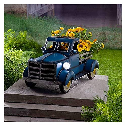 Pottilla de camioneta solar de la camioneta con la luz del coche estilo retro de la vendimia de la vendimia del camión de la plantadora del camión de la plantadora de la plantadora de la plantilla de