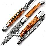 SPST bellissimo coltello artigianale in acciaio damasco realizzato a mano con fodero e lama di alta qualità garantita con un nuovo modello realizzato su misura 9695