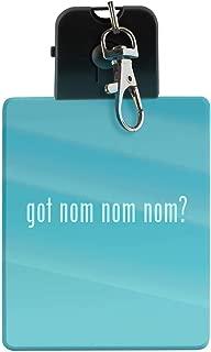 got nom nom nom? - LED Key Chain with Easy Clasp