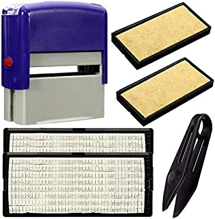 Personalised Self-Inking Rubber Stamp Kit Ink Stamper DIY Numbers Text Print Office Business Name Address