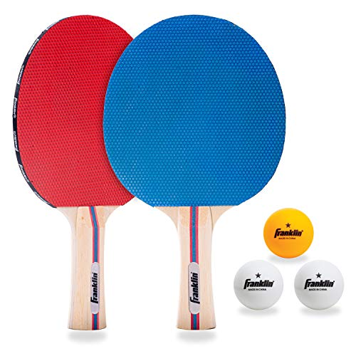 Franklin Sports Table Tennis Paddle Set with Balls  2 Player Paddle Kit with Table Tennis Balls