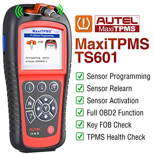 Autel TS601 TPMS Relearn Tool, OBD2 Code Reader with Full TPMS Functions and Full OBDII Functions...