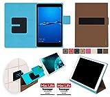 reboon Hülle für Huawei MediaPad M3 Lite 8.0 Tasche Cover Case Bumper | in Braun | Testsieger