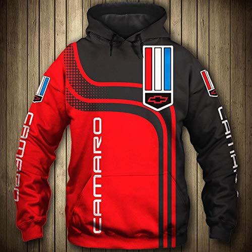 LIULL Sport Hoodies Pullover Camaro 3D Digital Sweatshirt Baseball Uniform Teens Jacke A-XXXL