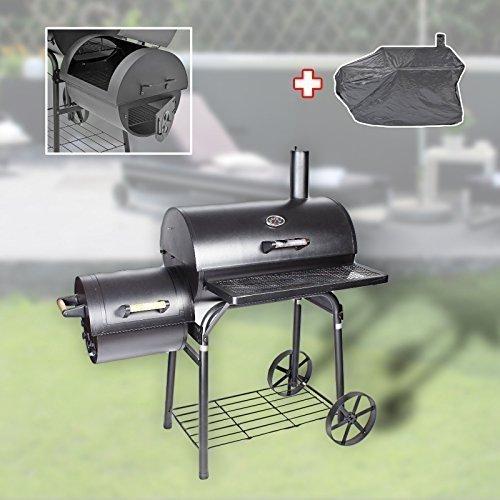Massiver Smoker BBQ Grillwagen Holzkohle Grill 90KG NEU