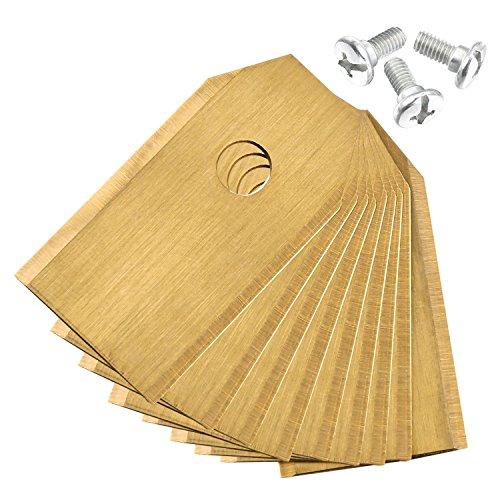 Zelsius Premium Titan lame de rechange (3 G | Épaisseur de 0,75 mm), pour tondeuse à gazon Robot, Blades, lame de rechange Convient à gazon automatique Husqvarna et Gardena, or autre