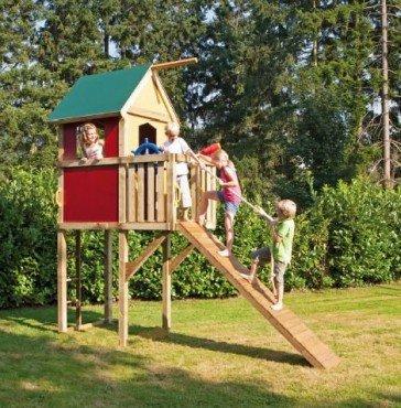 Winnetoo Spielturm Spielhaus bunt GP850, Baumhaus, Gartenspielhaus, Kletterturm