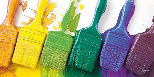 Glücksvilla Peinture d'automne – Motif Artiste Exclusif XXL Image Murale Format Paysage 120 x 60 cm Impression numérique sur Verre Acrylique 5 mm Pinceau coloré, Peinture à l'huile Peinte, Grand Art.