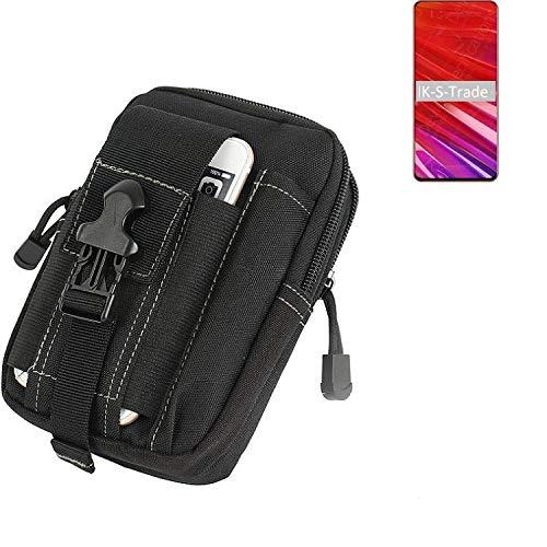 K-S-Trade Gürtel Tasche Für Lenovo Z5 Pro GT Gürteltasche Holster Schutzhülle Handy Hülle Smartphone Outdoor Handyhülle Schwarz Zusatzfächer