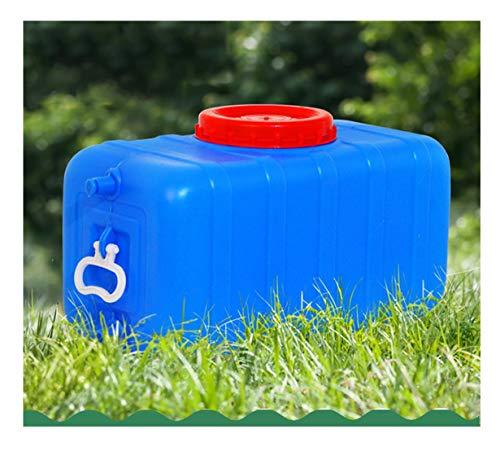 Wasserkanister Mit Wasserhahn Wasservorratsbehälter Verdickung Mit Hahn Wasserbehälter Für Den Notfall Wasserfass Wassereimer Mit Zapfen Stapelbar Platzsparend Camping Selbstfahrertour ( Size : 100L )