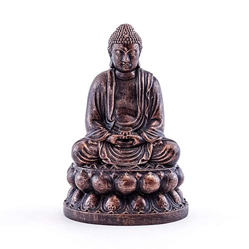 Top Collection Mini Meditating Shakyamuni Buddha Statue - Hand Painted Enlightened East Asian Supreme Buddha Sculpture with Bronze Finish Look- 3-Inch Collectible Mudra Praying Figurine
