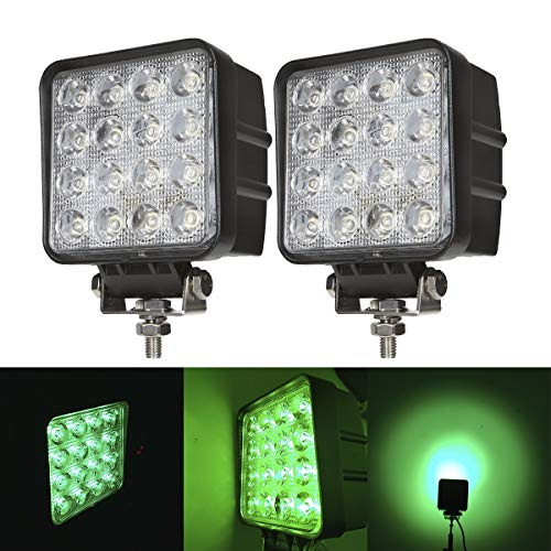 Green Led Pods 48W 3inch Spot Hunting Lights Driving Work...