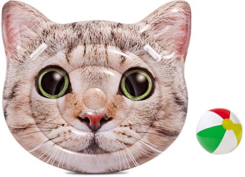 Bavaria-Home-Style-Collection Hummelladen - Materassino Gonfiabile, Misura XL, Motivo: Gatto e Gatto, Colore: Verde