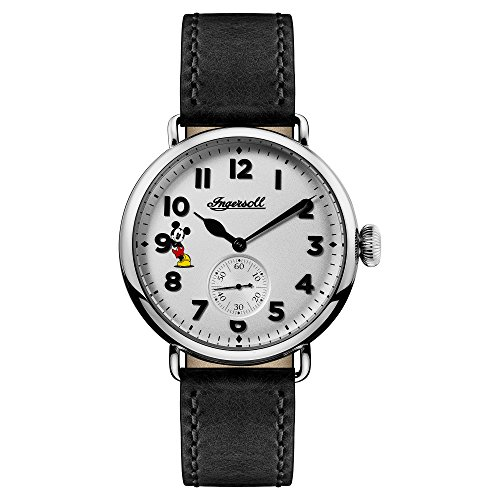 Ingersoll Disney Men's The Trenton Union Quartz Watch with White Dial and Black Leather Strap ID01202