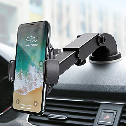 Phone Holder for Car FLOVEME Universal Long Neck Dashboard & Windshield with Washable Suction Pad Car Phone Mount for iPhone...