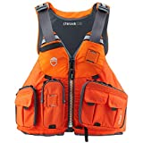 NRS Chinook OS Type III Outdoor Boating Fishing Life Jacket Vest PFD with Pockets, Large/XL, Orange