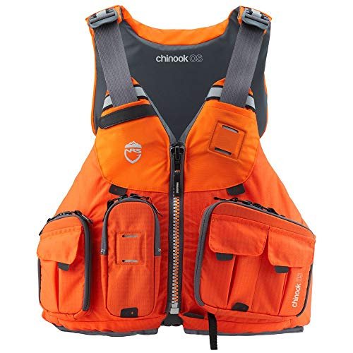 NRS Chinook OS Type III Outdoor Boating Fishing Life Jacket Vest PFD with Pockets, X Small/Medium, Orange