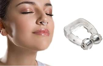 Jini Collection® Silicone Magnetic Anti Snore Nose Clip Sleeping Aid Apnea Guard Night Device