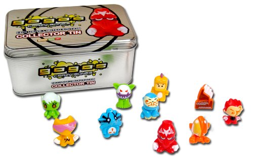GoGo's Crazy Bones - Limited Edition Silver Collector's Tin (Colors And Styles May Vary) by GoGo's Crazy Bones