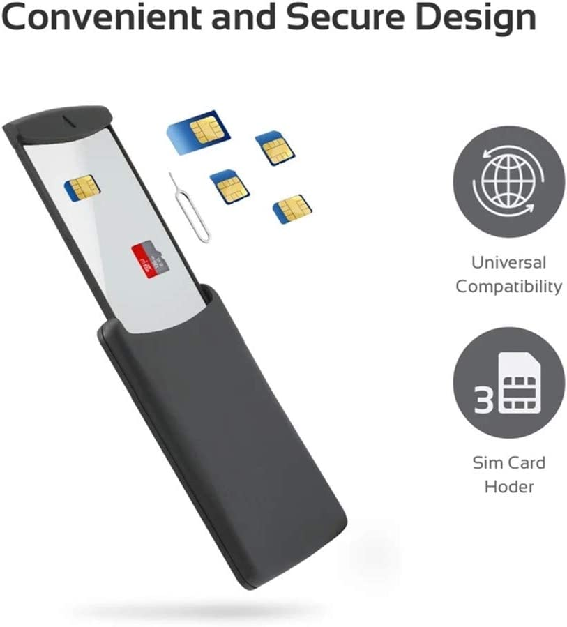 Universal Mobile SIM & Memory Cards Storage Box, Store Micro Nano Standard SIM Cards, Multi SIM Cards Portable Holder Storage Kit with Ejection Pin for Smartphones