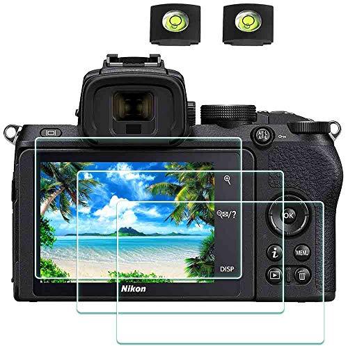 Z50 Displayschutzfolie Schutzfolie für Nikon Z50 Z50 Kamera & Blitzschuhabdeckung Zubehör,ULBTER 9H Härte LCD Gehärtetes Glas Kratzfest Anti-Fingerabdruck Anti-Staub Blasenfrei,3 Stück
