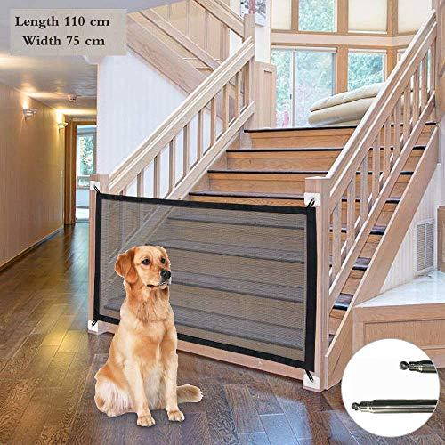 Anyingkai Puerta Mágica para Perros,Puerta Mágica para Mascotas,Magic Pet Gate para Perros,Barrera Seguridad Perros Puerta,Barrera para Perros,Puerta Seguridad Perros (S-110 * 75)