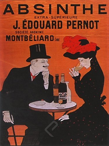 Absinthe Pernot by Leonetto Cappiello. Vintage French Liquor Bar Reproduction Print Poster (16 x 20) by EuroGraphics