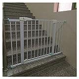 Puerta De Seguridad para Bebés, Valla Segura por Perro De Los Niños Cierre Automático Puerta De Barrera Utilizada En Portales Escalera Pasillos 76cm De Altura (Color : White, Size : 138cm-145cm)