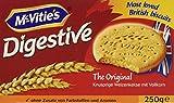 McVitie's Digestive (250 g) – knusprige Kekse aus Großbritannien – unvergleichlich leckere Bisquits nach traditioneller Rezeptur – Original