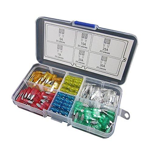 barco y cami/ón incluye portafusibles en linea de calibre 16/AWG ideal para coche Juego de minifusibles Digiten de cuchilla est/ándar tipo ATC