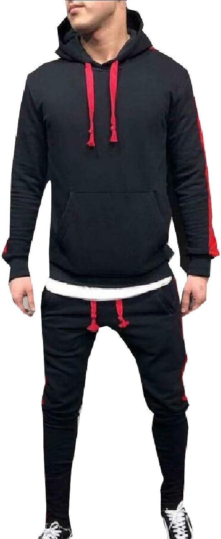 LEISHOP Men's Sport Suit Jogging Sweatsuit Hoodies Tracksuit Outfit