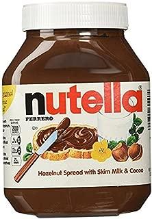 Nutella Chocolate Hazelnut Spread 4Pack (33.5oz Jar Each) Thhlx