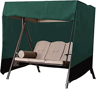 Swing Cover 3 Seater Outdoor Swing Covers for Outdoor Furniture Patio Swing Cover Durable Hammock Outdoor Swing Glider Cov...