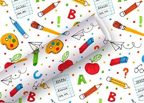 Braun + Company Papier Rolling Schule Geschenkpapier, 2x 0,70Meter, Mehrfarbig, one Size